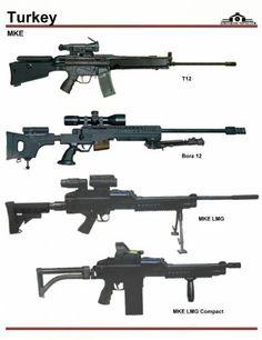 Турция: MKE T-12 Sniper Rifle, MKE Bora 12, ...