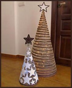 Pepa Pepita: DIY: Arbolitos de Navidad.