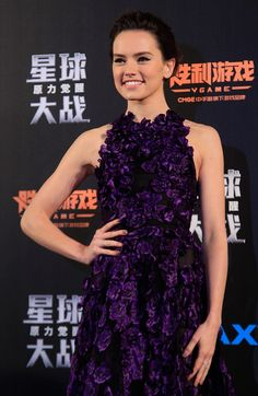 'Star Wars: The Force Awakens' actress Daisy Ridley attends the film's Shanghai Fan Event.
