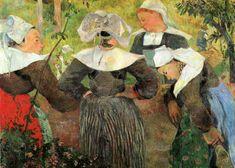 Paul Gauguin - La danse des quatre Bretonnes, 1888