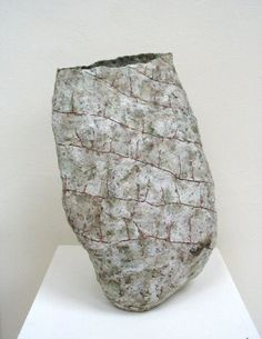 SARA RADSTONE (b. 1955), Leaning vase, 1983 stoneware, height 35 cm