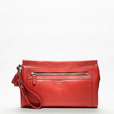 Legacy Large Leather Clutch by Coach