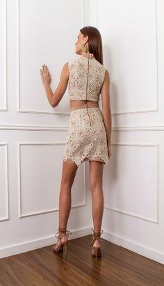 CONJUNTO RENDA GUIPIR - COJ3402-57 | Skazi, Moda feminina, roupa casual, vestidos, saias, mulher moderna