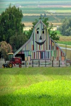 looks like the Kool-Aid man hit that barn!