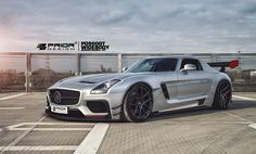 Mercedes Benz SLS AMG GT3 PD900GT Widebody Aerodynamic Kit By Prior Design