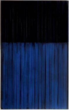 Pierre Soulages, bleue et noir