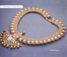 See related links to what you are looking for. Ruby Jewelry, Royal Jewelry, Trendy Jewelry, Gold Jewelry, Jewelery, Jewelry Accessories, Jewelry Design, Gold Necklace, Traditional Indian Jewellery