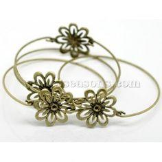 "Buy wholesale 4pcs antique bronze flower bangles bracelets 22cm(2 6/8"") at low price , bangles & bracelets on sale for wholesale prices at 8seasons.com"