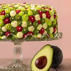 Avocado Cake with Raspberry Filling and Key Lime Buttercream Frosting