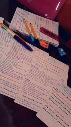 #Exam_notes- #Révision_Bac - Fiches de révisions | My Notes...#Study_Motivation