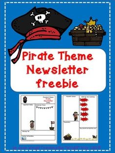 If you are using a pirate theme, this newsletter template will add to the excitement this year! The file is in  Power Point so it may be edited to meet your needs.Be sure to check out these other Pirate Theme Resources:Pirate Theme Classroom RulesPirate Theme Clip Chart and Reward Catalog  Pirate Theme Name Plates Pirate Theme Behavior Punch Cards
