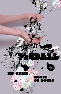 Piebald and House of Fools poster // #typography #graphicDesign #musicPoster