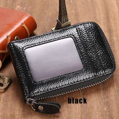 Fashion mini synthetic leather wallet id credit cards holder organizer