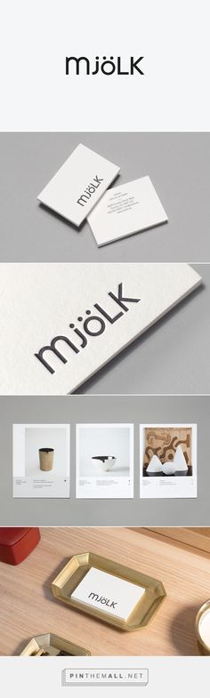 Mjölk Identity on Behance... - a grouped images picture - Pin Them All
