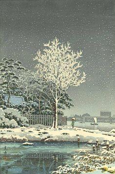 Snow on the Sumida River - Tsuchiya Koitsu (1870-1949)