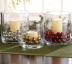 30 Cheap DIY Christmas Decorations Dollar Store Ideas - Home Page Noel Christmas, Christmas Candles, Christmas Projects, Simple Christmas, Winter Christmas, Homemade Christmas, Christmas Ornaments, Christmas Glasses, Advent Candles
