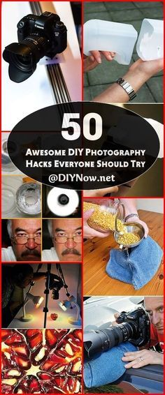 50 Awesome DIY Photography Hacks Everyone Should Try