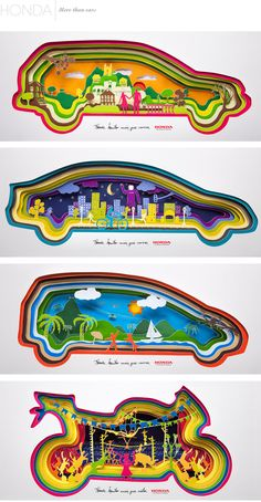 Honda #paper #advertising