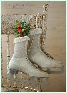 Ice skate decor for outside