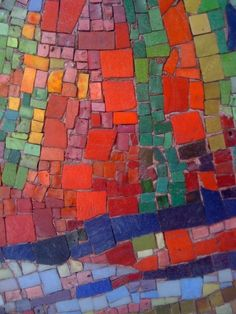 Mid-Century glass mosaic in Milano. click to see related story...photo © Lillian Sizemore