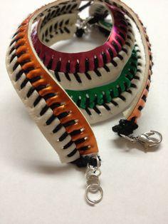 Baseball Bracelet...(team colors?).. via Etsy