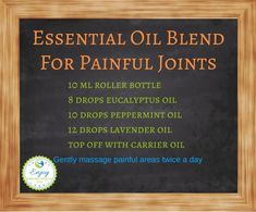 Joint Pain Remedies Essential Oil Blend For Painful Joints - If you suffer with joint pain or arthritis, you might want to take a look at essential oils. Learn about the best essential oils for joint pain here. Essential Oils For Pain, Citrus Essential Oil, Essential Oil Uses, Doterra Essential Oils, Young Living Essential Oils, Essential Oil Diffuser, Roller Bottle Recipes, Perfume, Painful Joints