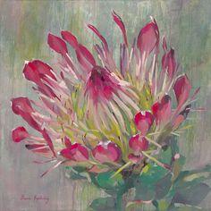 Allure 100cm x100cm R 18,000 Acrylic Flowers, Watercolor Flowers, Watercolor Art, Painting Flowers, Plant Painting, Painting & Drawing, Flower Crafts, Flower Art, Art Flowers