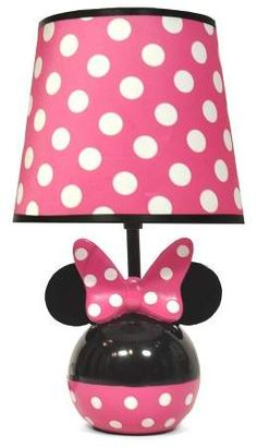 9885383019c Mickey Mouse   Friends Minnie Mouse Table Lamp with Lightbulb
