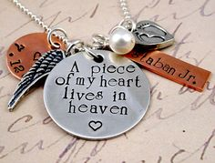 A Piece of My Heart II Hand Stamped Remembrance by RoseCreekToo