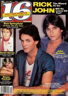 1983 - I had this mag, Rick AND Simon on the cover, what's not to love!