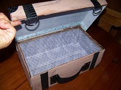 A Pretty Talent Blog: Turning a Shoebox into a Mock Suitcase