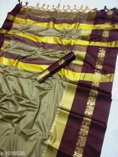 Sarees Fancy Soft cotton Silk Saree  *Fabric* Saree - Soft cotton Silk , Blouse - Soft cotton Silk  *Size* Saree - 5.5 Mtr Blouse - 0.8 Mtr  *Work * Zari weaving Work  *Sizes Available* Free Size *   Catalog Rating: ★3.9 (5967)  Catalog Name: Solid Sana Cotton Silk Sarees with Tassels and Latkans CatalogID_122576 C74-SC1004 Code: 385-1018536-