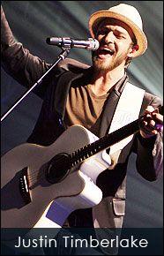 Justin Timberlake    Red Monkey Guitar Straps  www.redmonkeydesigns.com