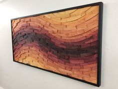 wood wall art SUNSET STREAK wall art wood art by StainsAndGrains