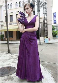 Stunning Royal Purple Bridesmaid Dress
