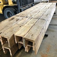 Just thought we'd share some of the finest looking box beams we've ever made. To create these masterpieces we have to surgically dissect 200 year . Faux Wood Beams, Timber Beams, Exposed Wood, Fake Beams Ceiling, Wood Ceilings, Barn Wood, Rustic Wood, Reclaimed Wood Kitchen, Reclaimed Timber