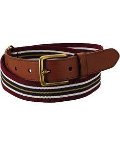 #Striped belt for men. Perfect summer essential. #tapebelt