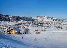 #winter #winterwonderland #Appenzellerland Beautiful Winter Scenes, Winter Wonderland, Mount Everest, Mountains, Nature, Travel, Tourism, Naturaleza, Viajes