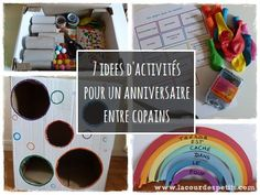 Un anniversaire tout en couleur pour ses 6 ans Birthday Party Games, Babysitting, Kids And Parenting, Kids Meals, Party Planning, Birthdays, Happy Birthday, Diy Crafts, Invitations