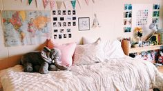25 Well-Designed Dorm Rooms to Inspire You | StyleCaster < pinned for space-saving ideas.