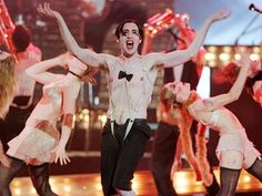 """Alan Cumming performs a scene from the Broadway play """"Cabaret"""", during the 1998 Tony Award Ceremonies at Radio City Music Hall in New York"""