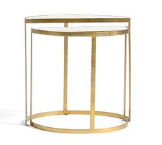 "Alistar Accent Table #potterybarn-Small: 22"" w x 12.5"" d x 22"" h Large: 24"" w x 12.25"" d x 24"" h"