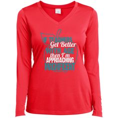 Approaching Magnificent - Ladies Long Sleeve V-Neck