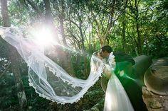 Floating on Air. Cancun Wedding, Destination Wedding, Wedding Ceremony, Wedding Day, Riviera Maya, Just Married, Wedding Portraits, Beautiful Bride, Wedding Inspiration