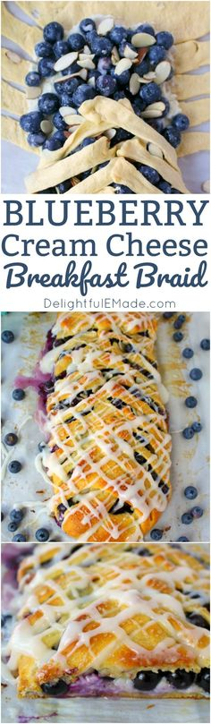 Meet your new favorite breakfast pastry!  This super-simple Blueberry Cream Cheese Breakfast Braid is made from simple, store-bought crescent sheets, along with fresh blueberries, almonds and cream cheese.  No one will ever know it didn't come from a fancy bakery!