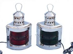 Chrome Port And Starboard Electric Lantern 17""
