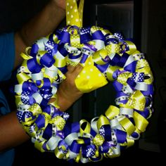 LSU Ribbon Wreath...maybe for the National Championship celebration...