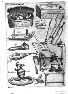 16th C Kitchen equipment: Italy; from Opera di M. Bartolomeo Scappi: cuoco secreto de Papa Pio V (1570)