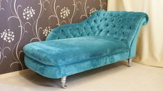 turquoise chaise lounge chairs with beautiful wall : 14 Outstanding Turquoise Chaise Lounge Digital Photograph Idea Bedroom Colors, Bedroom Decor, Turquoise Couch, Blue Velvet Chairs, Sofa Design, Interior Design, Funky Chairs, Master Room, Master Suite