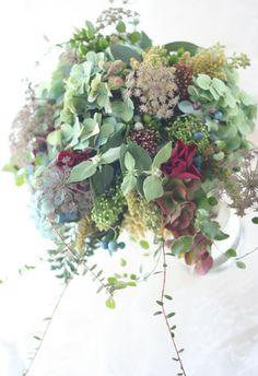 ブーケ 碧 : 一会 ウエディングの花                                                                                                                                                     もっと見る